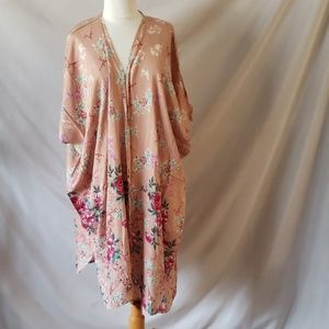 Angie floral Kimono cover up